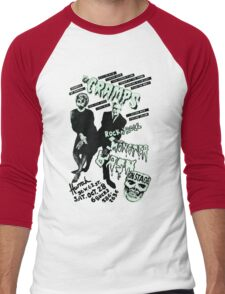 The Cramps - Concert Poster Men's Baseball ¾ T-Shirt