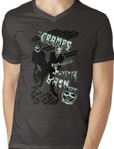 The Cramps - Concert Poster Mens V-Neck T-Shirt
