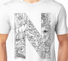 Animal Alphabet Letter N Unisex T-Shirt