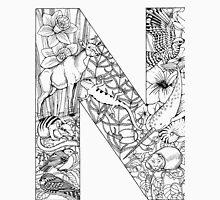 Animal Alphabet Letter N Unisex T-Shirt