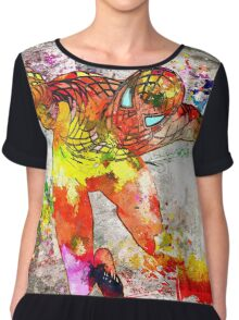 Spidey Grunge Watercolor Chiffon Top