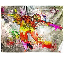 Spidey Grunge Watercolor Poster