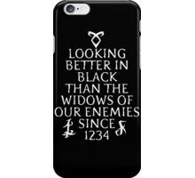 looking better in black iPhone Case/Skin