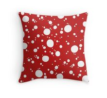 Red Dotty  Throw Pillow