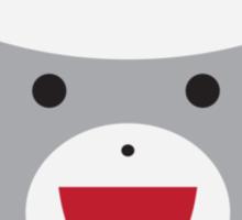 Sock Monkey Face Sticker