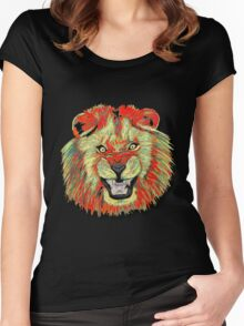 Lion / Löwe version 2 Women's Fitted Scoop T-Shirt