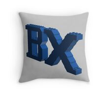 BX Logo Blue Throw Pillow