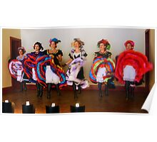 Dance Hall Girls in Old West Poster