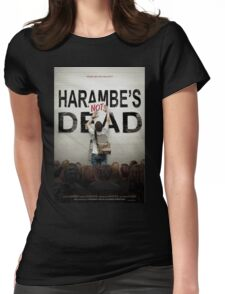 Harambe's Not Dead Womens Fitted T-Shirt