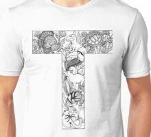 Animal Alphabet Letter T Unisex T-Shirt