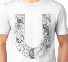 Animal Alphabet Letter U Unisex T-Shirt