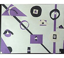 abstract purple, black, and white Photographic Print