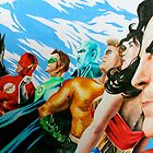 Alex Ross Inspired Justice League by weronikart