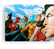 Alex Ross Inspired Justice League Canvas Print