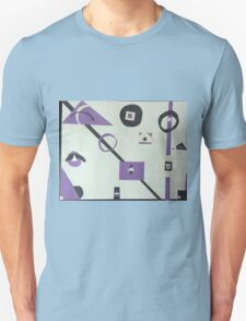 abstract purple, black, and white Unisex T-Shirt