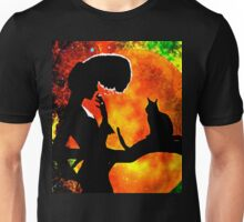 BLACK CATS HARVEST MOON Unisex T-Shirt