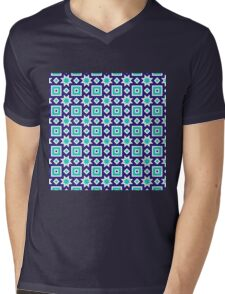 Blue abstract pattern background Mens V-Neck T-Shirt