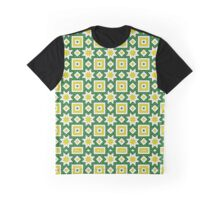 Yellow and green abstract pattern background Graphic T-Shirt