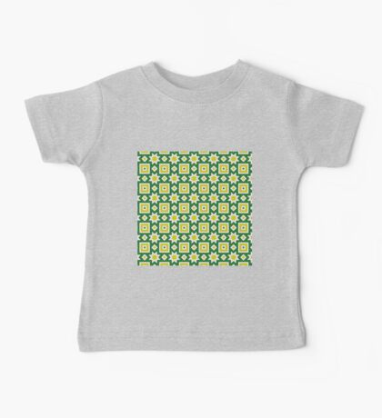 Yellow and green abstract pattern background Baby Tee