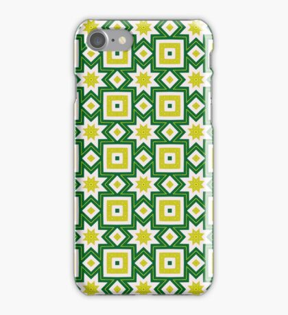 Yellow and green abstract pattern background iPhone Case/Skin