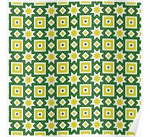 Yellow and green abstract pattern background Poster