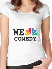 NBC we peacock comedy Women's Fitted Scoop T-Shirt