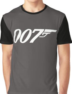 007 James Bond Sticker Vinyl Decal Gun Wall Car 12 Graphic T-Shirt