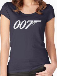 007 James Bond Sticker Vinyl Decal Gun Wall Car 12 Women's Fitted Scoop T-Shirt