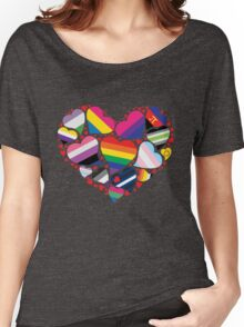 ALL PRIDE Heart Women's Relaxed Fit T-Shirt