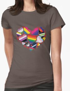 ALL PRIDE Heart Womens Fitted T-Shirt