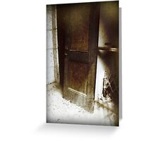 Dark Grungy Gothic Door to Oblivion Greeting Card
