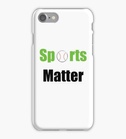 Sports Matter Campaign logo #2 iPhone Case/Skin
