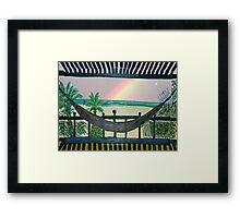 UP ON THE ROOF.........WHEN ALL IS CALM Framed Print