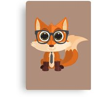Fox Nerd Canvas Print