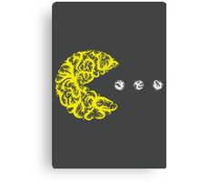Inside the Lines: Pac-Man Canvas Print