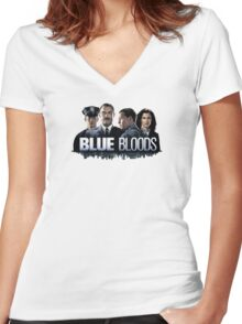 Blue Bloods 2 Women's Fitted V-Neck T-Shirt