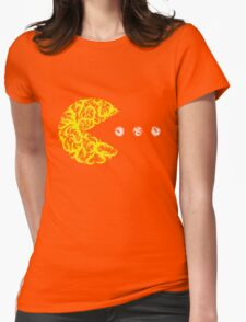 Inside the Lines: Pac-Man Womens Fitted T-Shirt