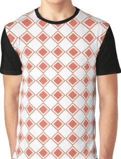 Diamond checkered pattern coral  Graphic T-Shirt