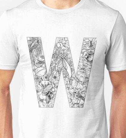 Animal Alphabet Letter W Unisex T-Shirt