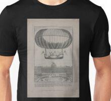 0208 ballooning Expérience du globe aërostatique du MM les freres Robert au Jardin des Thuileries Unisex T-Shirt