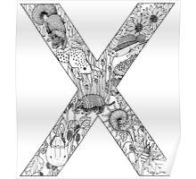 Animal Alphabet Letter X  Poster
