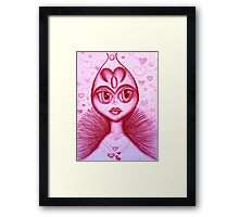 The Real Queen of Hearts Framed Print