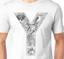 Animal Alphabet Letter Y Unisex T-Shirt