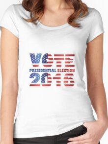 Vote 2016 USA Presidential Election Illustration Women's Fitted Scoop T-Shirt