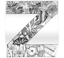 Animal Alphabet Letter Z Poster