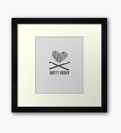 Are you a knotty hooker? Framed Print