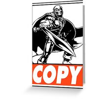 Taskmaster Copy Obey Design Greeting Card