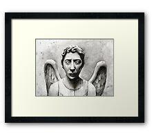 Weeping Angel - Don't Blink! Framed Print