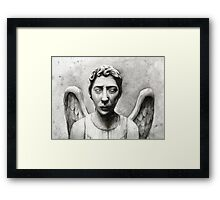 Weeping Angel - Don't Blink! Framed Print