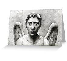 Weeping Angel - Don't Blink! Greeting Card